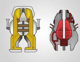 Jus7y tarafından Looking for an artist to design 15 spaceships for a mobile game. için no 5