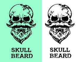 #48 untuk Skull Beard logo oleh EhteshamMukhtar