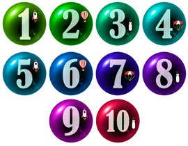 #262 untuk Create a set of glass orbs with numbers oleh umamaheswararao3