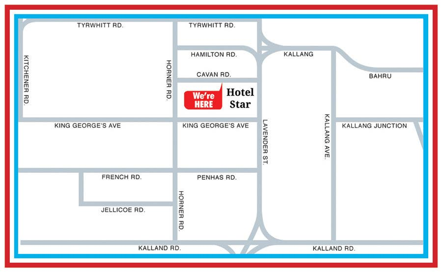 Entry By Vntkshp For Draw A Location Map Of My Hotel For - Star map from my location