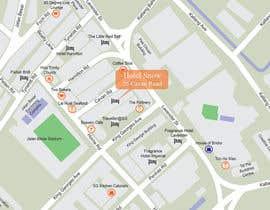 #17 untuk Draw a location map of my hotel for printing oleh harool
