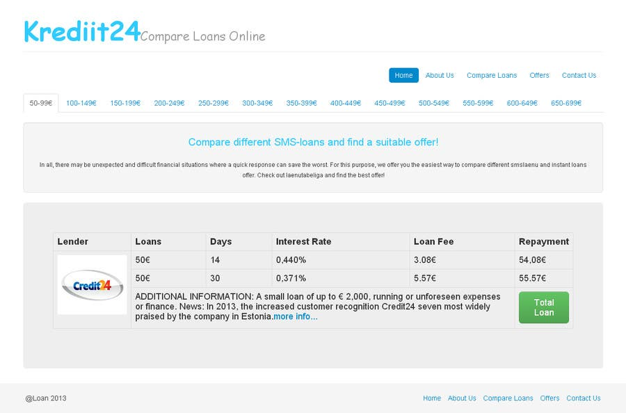 #2 for Create a Layout/Design for PayDay Loan Comparison Website by vikaskhunteta