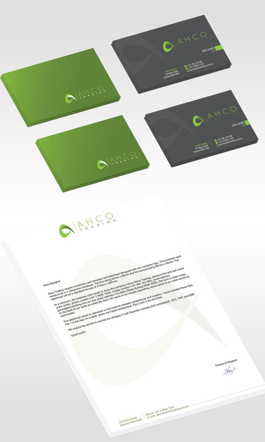 #50 for Ahco Trading - Business Card & Letterhead Template by jobee