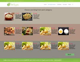 #9 untuk Design order page for food delivery website oleh iserednia