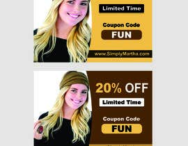 #28 untuk Design a 20% OFF coupon oleh Shrey0017