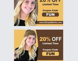 #40 untuk Design a 20% OFF coupon oleh Shrey0017