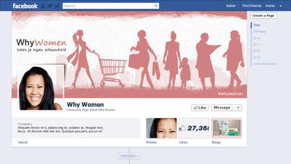 #10 for Design a Facebook landing page for whywomen.nl by herick05