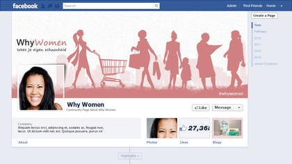 #11 for Design a Facebook landing page for whywomen.nl by herick05
