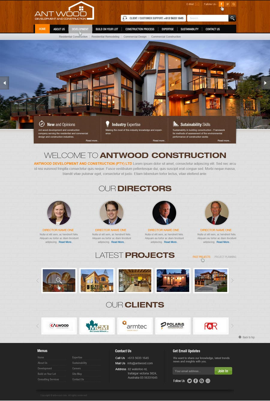 Contest Entry #24 for Build a Website for Antwood Construction