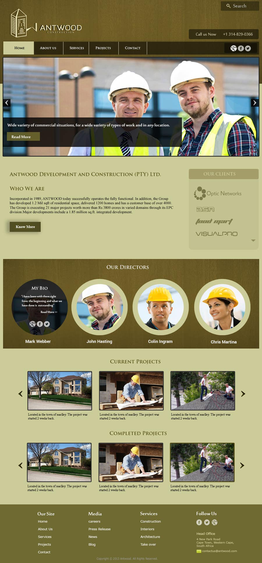 #64 for Build a Website for Antwood Construction by surendartech
