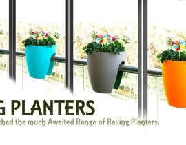 claudiuddu tarafından Design a banner for my Website Railing Planters için no 4