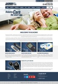 xpertsart tarafından Design a WebGluco RX Websitesite Mockup için no 18