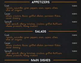 ChrisTzelas tarafından Design a menu card için no 21