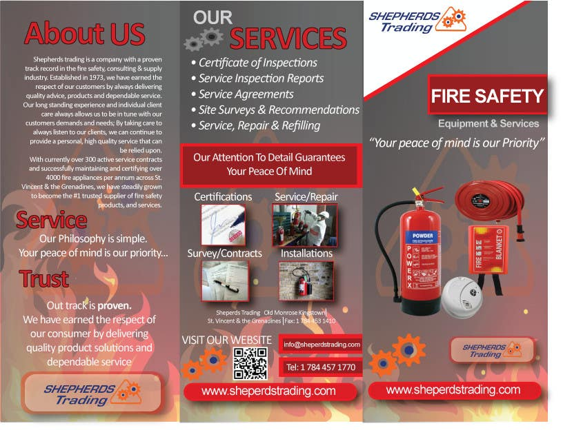 Entry #6 by rexeray for Design a FIRE SAFETY Brochure | Freelancer