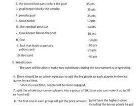 santopoulose tarafından Idea for a daily/weekly fantasy football (soccer) league için no 23