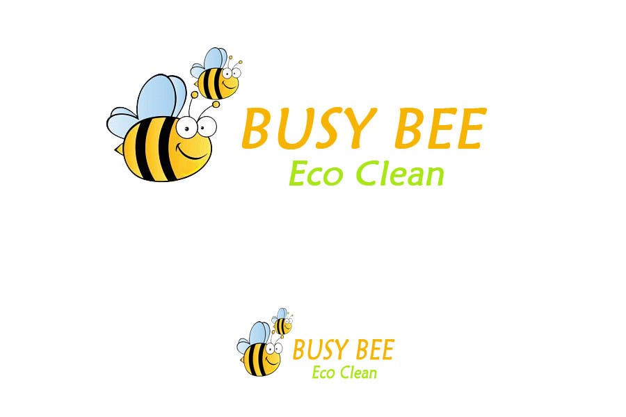 Contest Entry #304 for Logo Design for BusyBee Eco Clean. An environmentally friendly cleaning company
