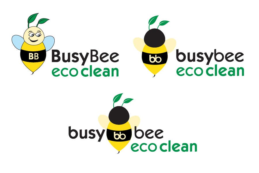 Конкурсная заявка №196 для Logo Design for BusyBee Eco Clean. An environmentally friendly cleaning company