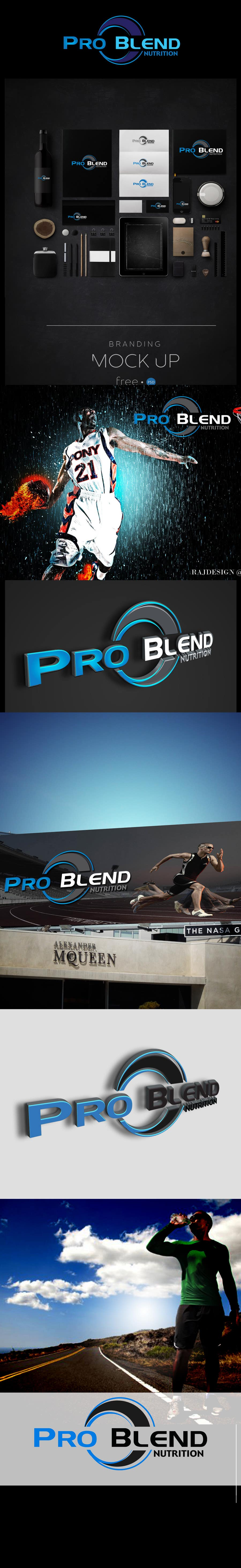 #513 for Design a Logo for PRO-BLEND NUTRITION by vinayvijayan
