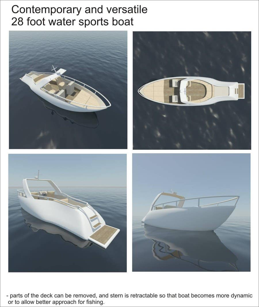 #15 for Concept Boat Design - 1 concept only by JosipHR