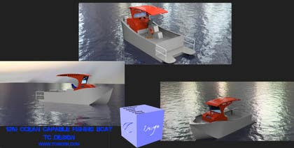 3D Modelling Contest Entry #12 for Concept Boat Design - 1 concept only