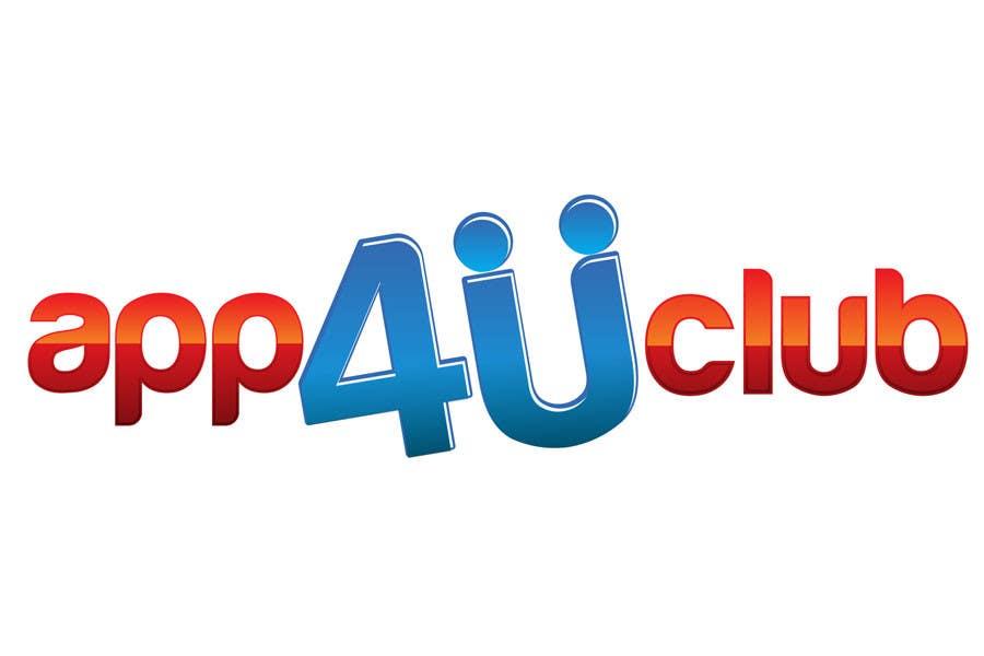 Kilpailutyö #412 kilpailussa Logo Design for App 4 u Club