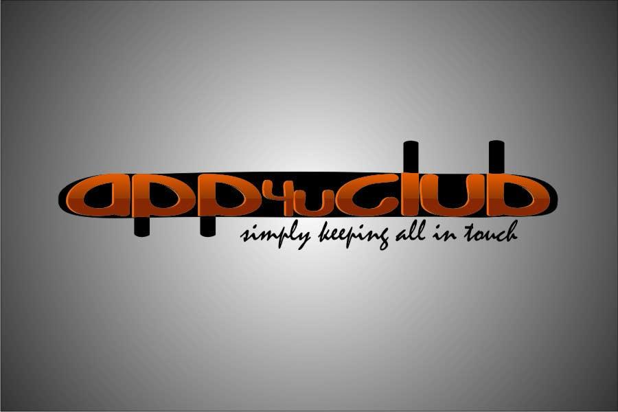 Kilpailutyö #418 kilpailussa Logo Design for App 4 u Club