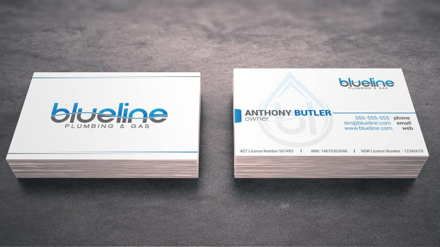 Entry 99 by vavika for design some business cards and fridge magnet contest entry 99 for design some business cards and fridge magnet for blueline plumbing reheart Image collections