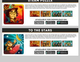 nº 13 pour Website Mockup for an indie game studio par lucaskais