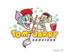 Nro 13 kilpailuun Design a Logo for Tom and Jarry Services - NB this logo must be based upon Tom and Jerry and include characters based on this. DO not submit unless this is done käyttäjältä andyiommi