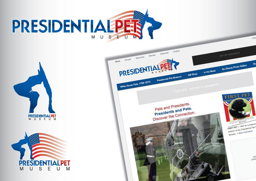 #29 for Design a Logo for Presidential Pet Museum by GeorgeOrf