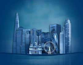 nº 22 pour Create a composite landing page image of the London financial skyline par awaisinayat
