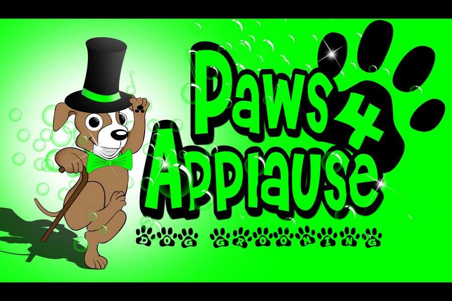 Penyertaan Peraduan #                                        116                                      untuk                                         Logo Design for Paws 4 Applause Dog Grooming