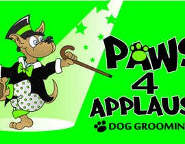 #121 para Logo Design for Paws 4 Applause Dog Grooming por Designsthatshine