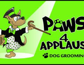 #78 für Logo Design for Paws 4 Applause Dog Grooming von Designsthatshine