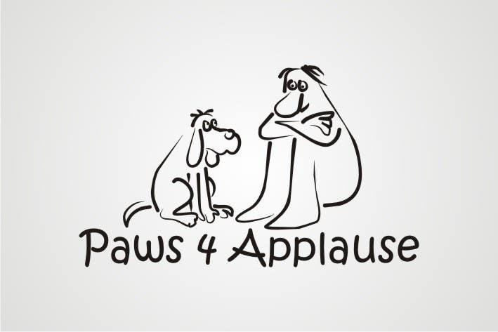 Penyertaan Peraduan #                                        4                                      untuk                                         Logo Design for Paws 4 Applause Dog Grooming
