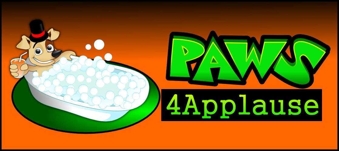 Penyertaan Peraduan #                                        21                                      untuk                                         Logo Design for Paws 4 Applause Dog Grooming