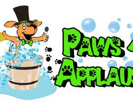 #105 untuk Logo Design for Paws 4 Applause Dog Grooming oleh shimmer2