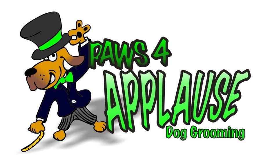 Penyertaan Peraduan #                                        38                                      untuk                                         Logo Design for Paws 4 Applause Dog Grooming