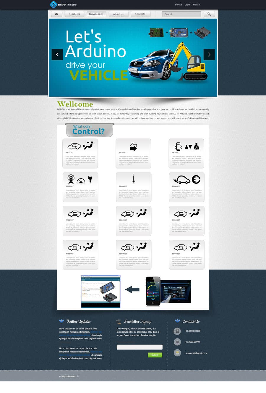 #6 for Design a Website Mockup electronics website by m2ny