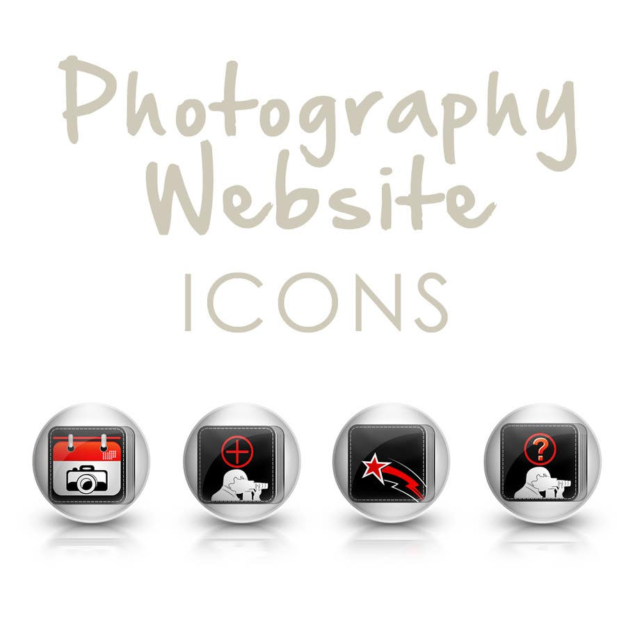 #10 for Design four Icons for a Photography Website by ronimccullum
