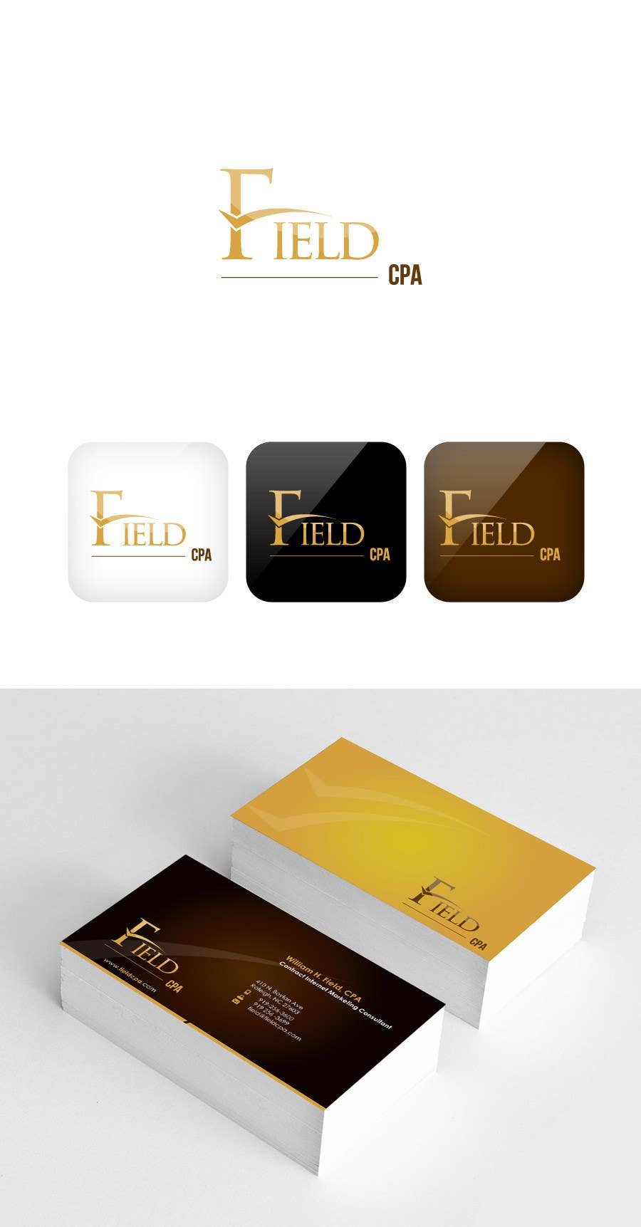 #55 for Business Card Logo Design for FIELD CPA by FareehaZ
