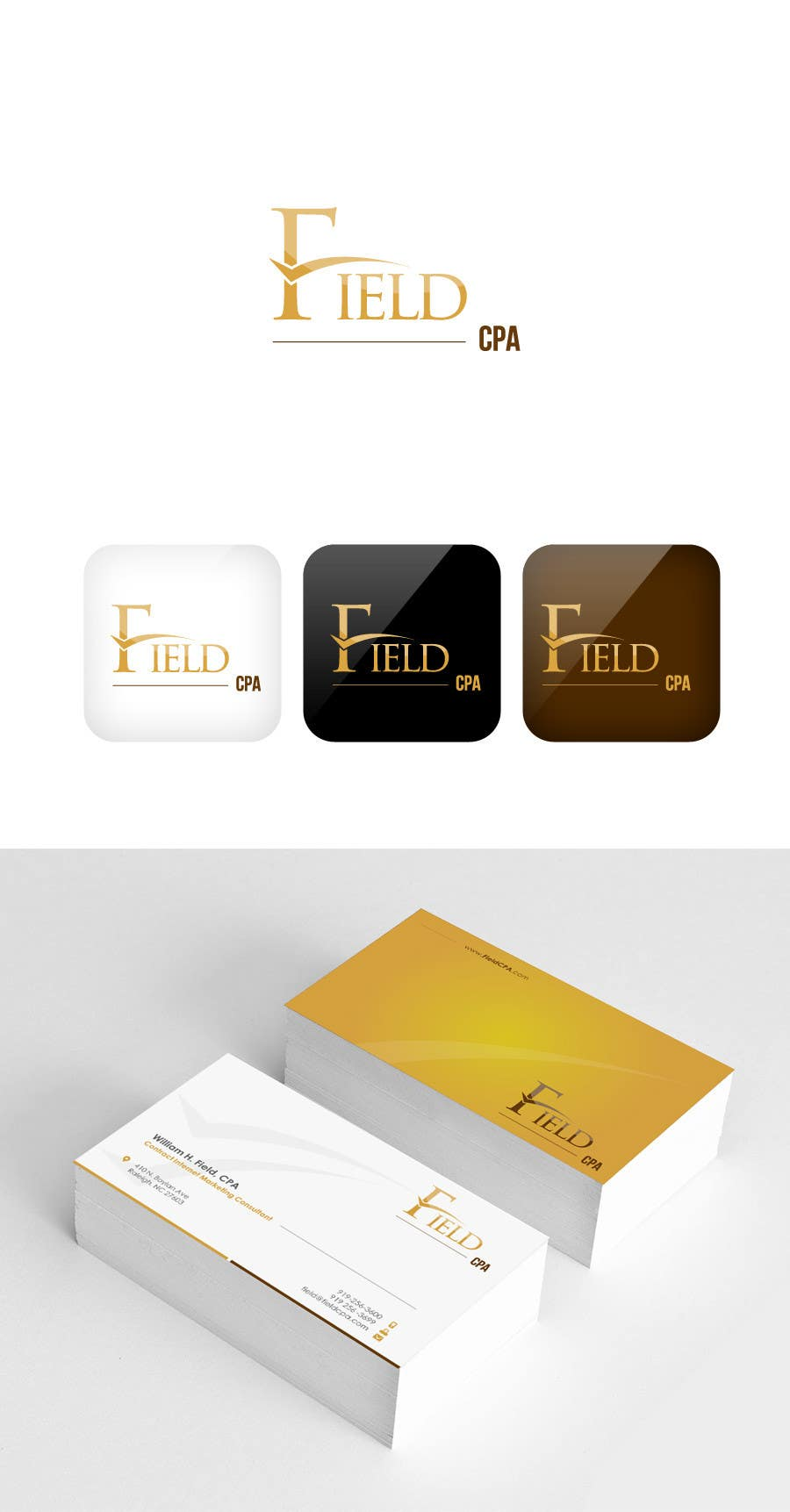#56 for Business Card Logo Design for FIELD CPA by FareehaZ