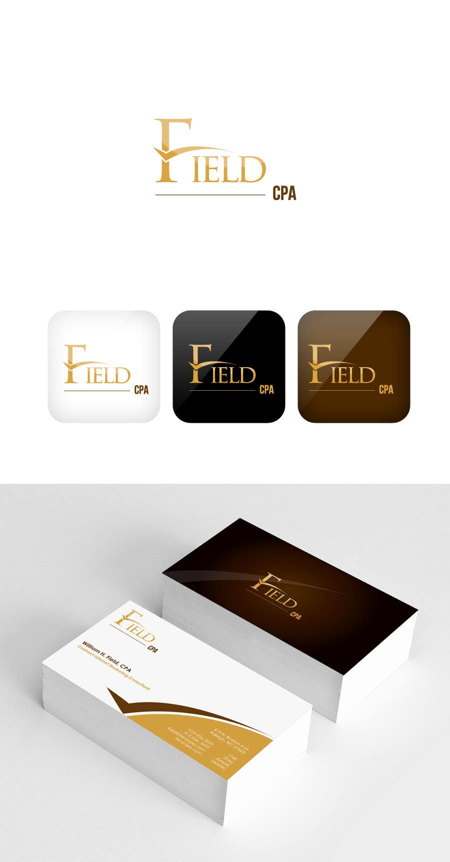 #59 for Business Card Logo Design for FIELD CPA by FareehaZ