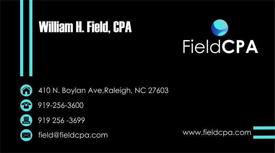 #53 for Business Card Logo Design for FIELD CPA by danapopa88