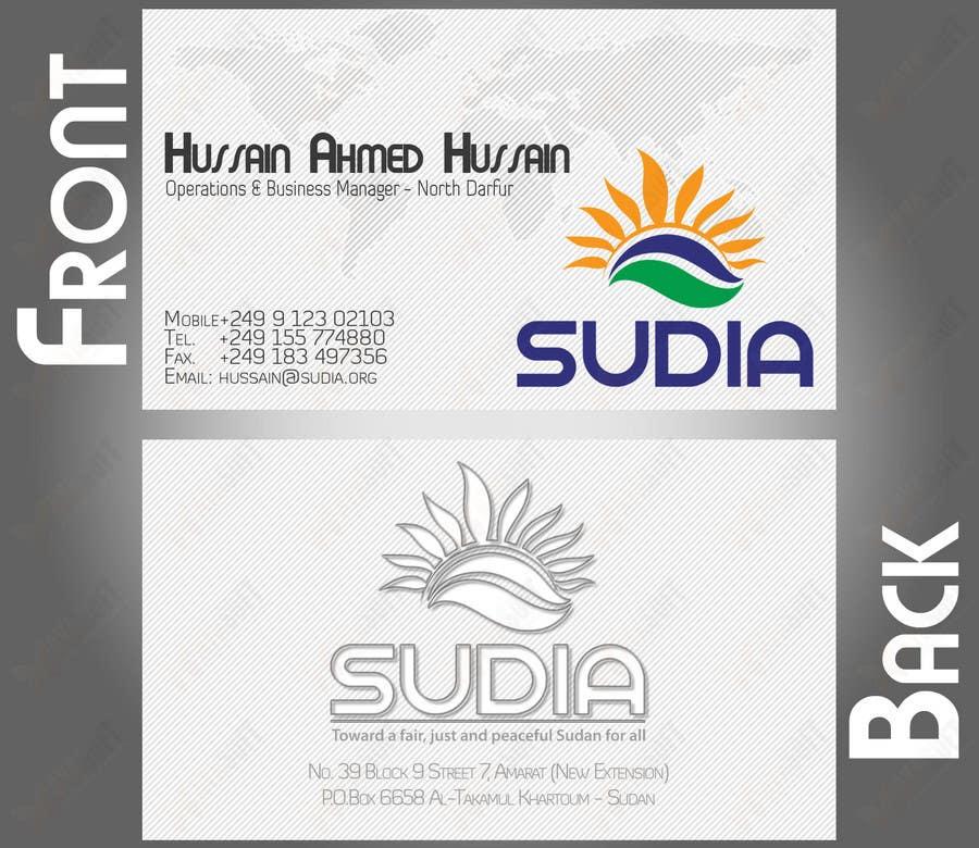 Конкурсная заявка №76 для Business Card Design for SUDIA (Aka Sudanese Development Initiative)