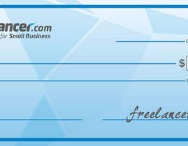 #13 for Design a novelty check for Freelancer.com af QCB