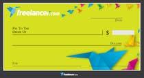 Design a novelty check for Freelancer.com için Graphic Design3 No.lu Yarışma Girdisi