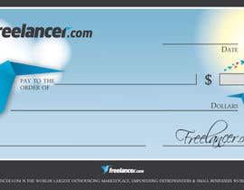 #11 for Design a novelty check for Freelancer.com by GeorgeOrf