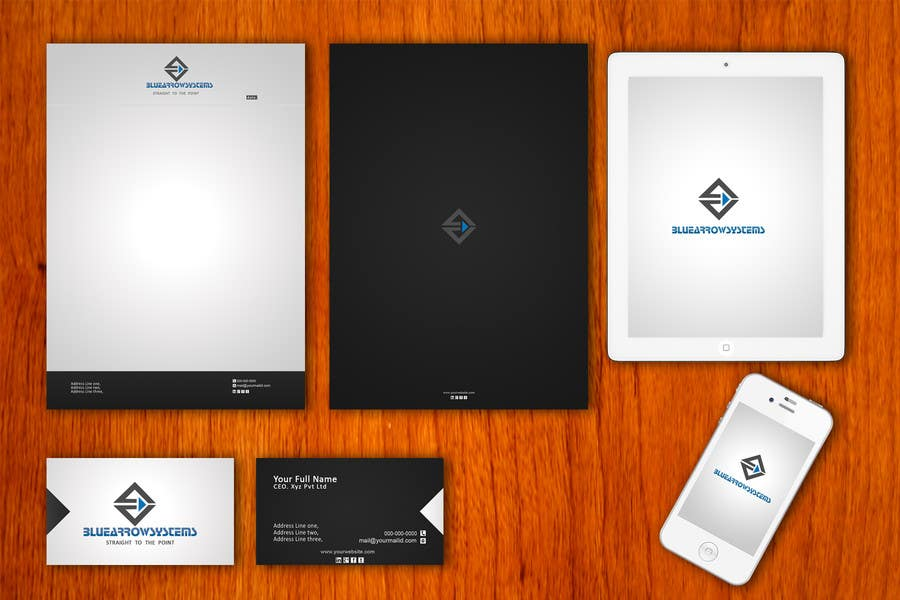 Bài tham dự cuộc thi #1 cho Corporate Image: Business Card, envelope, iPhone screen,etc. - repost