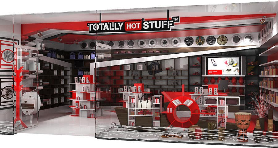 #7 for 3D Interior Design For A Novelty Lifestyle & Gifts Retailer Shop by artdesignfusion